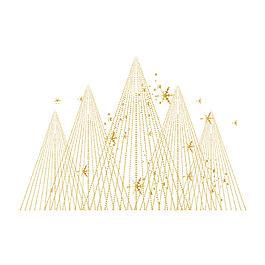 金色線條三角元素