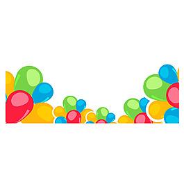 彩色氣球矢量元素