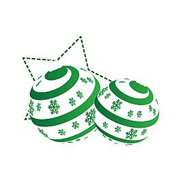 綠色雪花吊球元素