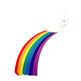 清新七彩彩虹元素