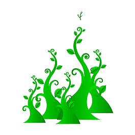 清新綠色小樹元素