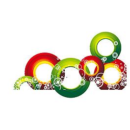 彩色漸變圓圈元素
