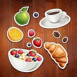 水果面包背景素材