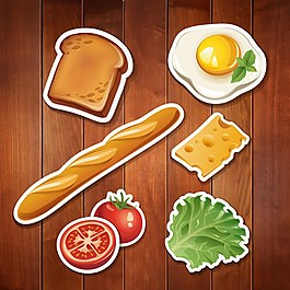面包早餐背景素材