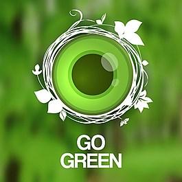 綠色環保背景素材