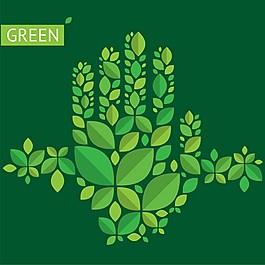 綠色葉子背景素材