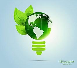 地球綠色背景素材