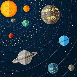 太陽系背景素材