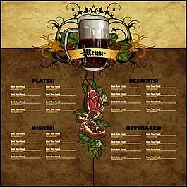 酒吧菜單背景素材