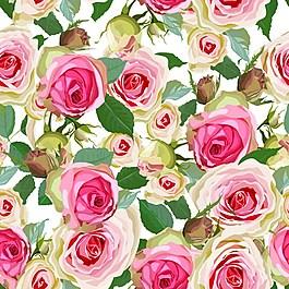 手繪玫瑰花背景素材