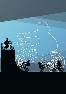 騎行背景素材