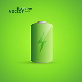 綠色電池背景素材