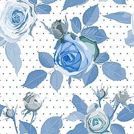 藍色玫瑰花背景素材
