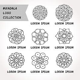 手繪的曼荼羅花紋標志