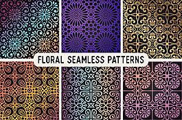 民族風格裝飾花紋圖案