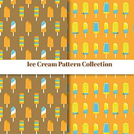 扁平風格冰淇淋裝飾圖案
