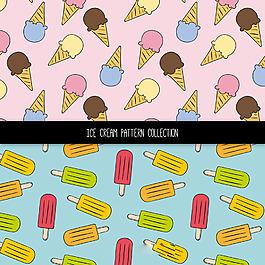 各種冰淇淋裝飾圖案集合