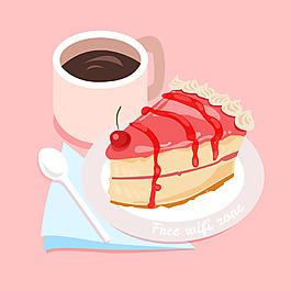 切片蛋糕面包吐司咖啡免費WiFi背景