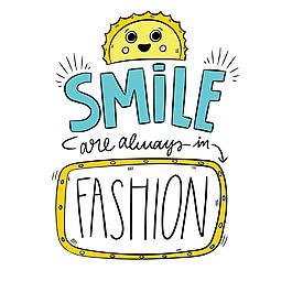 微笑主題英文藝術字排版裝飾設計