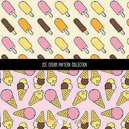 手繪冰淇淋雪糕裝飾圖案背景