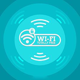 藍色調Wifi元素背景
