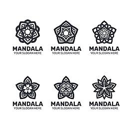 各種形狀曼陀羅裝飾花紋圖案