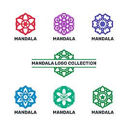 豐富多彩的曼陀羅花紋徽標