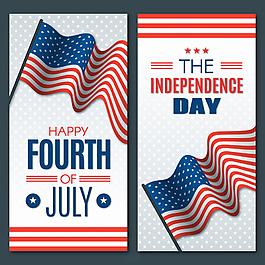 美國獨立日垂直設計吊旗背景