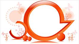 橘色圈圈背景