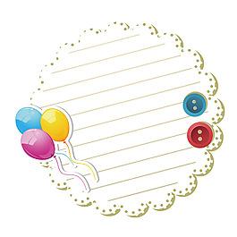 花邊信紙氣球元素