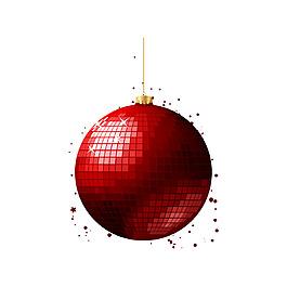 紅色亮片圓球元素