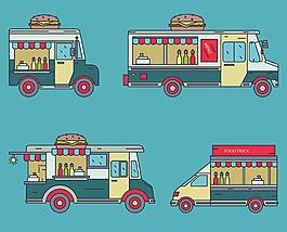 卡通漢堡快餐車
