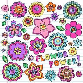 可愛兒童畫花朵