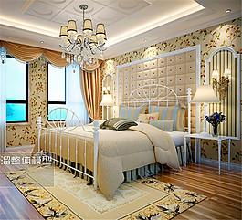 歐式臥室家裝模型設計