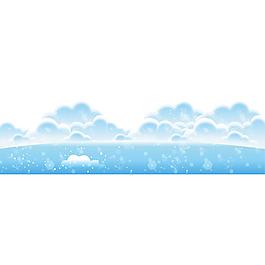 白云藍天元素