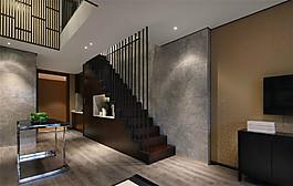 简约客厅楼梯设计图