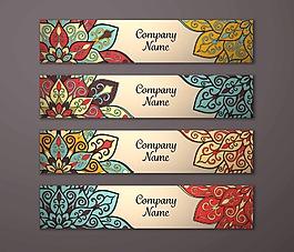彩色藝術花紋背景