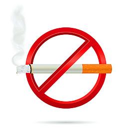 立体禁烟标签图片