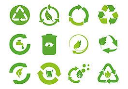循环利用环保图标