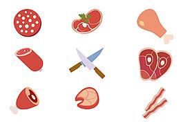 手繪肉類食物