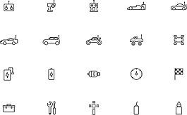 线性遥控车图标