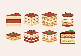 清新手繪蛋糕素材