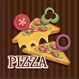 美味披薩背景圖