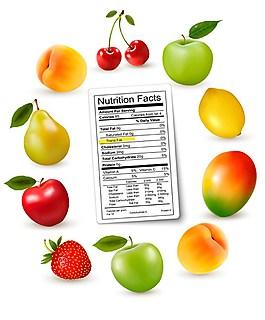 新鮮水果矢量圖