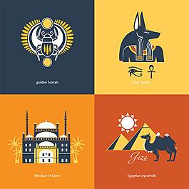埃及特色插畫