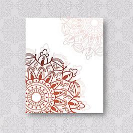 曼陀罗装饰花纹图案手册封面模板