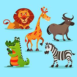 可愛動物插畫