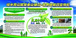 15 世界環境日展板海報宣傳欄