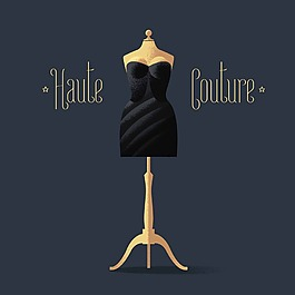小黑裙晚禮服