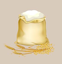 矢量面粉麥子